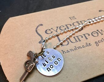 McCree Overwatch Inspired Hand Stamped Pendant