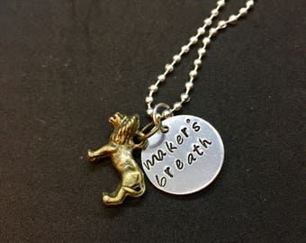 Cullen Dragon Age Inspired Hand Stamped Pendant Keychain