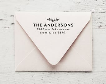 Self Inking Return Address Stamp, Custom Stamp, Self Inking Address, Personalized Stamp, Wedding Stamp, Housewarming Gift - Style #96