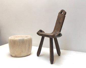 stump footstool seat