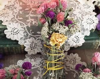 Black Sage, Mugwort, Yarrow, Rose and Wild Flowers Smudging Stick