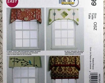 McCall's 6299, Window Treatments Pattern, Sewing Pattern, Home Dec in a Sec, Valance and Roman Shade Pattern, Uncut