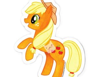 Applejack - My Little Pony Sticker - Die Cut Vinyl - Weather Resistant - UV Protected - MLP