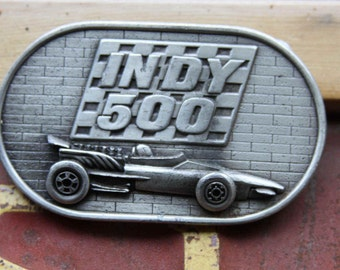 Journey to Indy 500 Belt Buckle The Brickyard Memorial Day 1976 Racing Beltbuckle Car guy Buckle Pewter Memorial Day Races Unisex Vintage