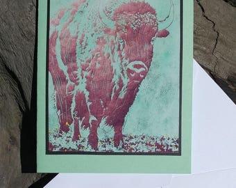 5 Bison Notecards