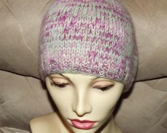 DWA023 Angora Ortaca Angora Wool Hand Knit Hat
