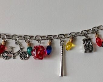 Stranger Things inspired charm bracelet