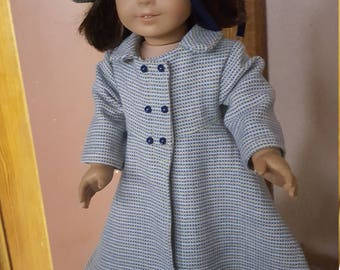 "Checked Wool Coat for 18"" Dolls"