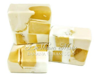 3.5 lb Soap Loaf, Banana Cream Soap, Banana Soap, Natural Soap, Handmade Soap, Vegan Soap, Soap Gift, Soap Favors, Tropical soap