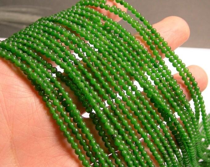 Jade  - 3mm(2.8mm) round beads - 1 full strand - 140 beads - AA quality - PG62