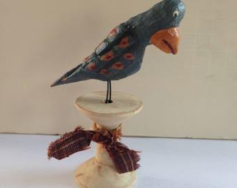 Primitive Hand Carved Folk Art Bird