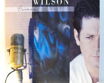 "ON SALE Brian Wilson (The Beach Boys) Solo Vinyl Record Album LP 1980s Pop Rock and Roll Jeff Lynne ""Brian Wilson"" (1988 Sire w/""Love and Me"