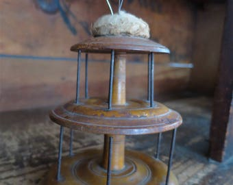 Late 1800's Wooden Thread Holder