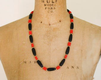 Napier Black and Red Necklace