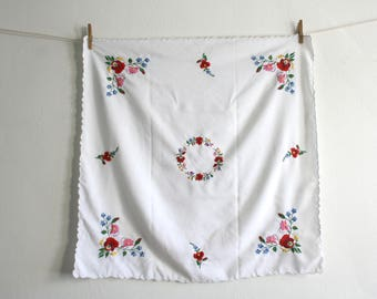 Hungarian Embroidered Tablecloth