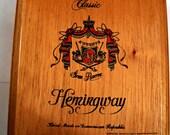 Empty Wooden Cigar Box for Crafting - Hemingway - Arturo Fuente