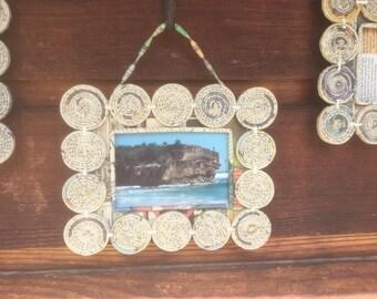 Handmade Frames,Paper Photo Frame Trio, Made by Hand, Rolled Paper Picture Frames, Paper Frames, Photo Frames