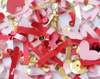 Valentines Day Decoration, Heart Die Cut Confetti, Valentine Day Table Decor, Heart Party Decor, Valentine Day Confetti, Gift Basket Filler