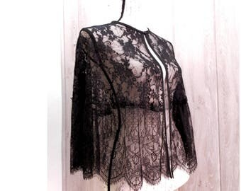 Two laces capelet, Gothic Lolita Cape, Steampunk Cloack