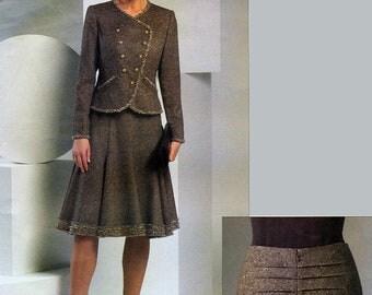 Vogue American Designer V2870 Sewing Pattern by Oscar de la Renta for Misses' Jacket and Skirt - Uncut - Size 6, 8, 10
