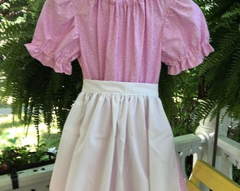 Ships Today -Pioneer, Prairie, Colonial  Felicity, American Girl Costume -   Girls Sz -  12