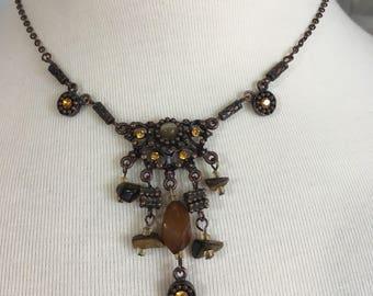 NECKLACE, Bohemian Hippie Gemstone Necklace