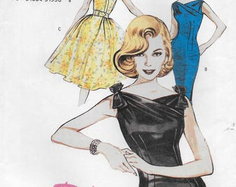 Butterick 6582 Misses Semi Fitted Gathered Dress & Belt Sewing Pattern Size 12, 14, 16 Bust 34 to 38