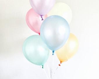 Pastel Rainbow Balloons - Unicorn Birthday Party Decoration, 1st birthday cake smash Decor, ice cream Baby shower, Sprinkle Bridal Shower