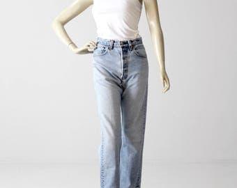 vintage 501xx Levi's jeans, crop high waist denim, 29 x 26