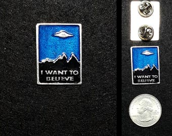 I want to believe Lapel Pin