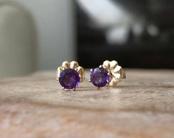 Amethyst Earrings, Amethyst Earrings Gold, Gold Amethyst Stud Earrings, Amethyst Stud Earrings, Amethyst Earrings Stud, Amethyst