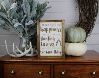Hunting Wood Sign for Rustic - Farmhouse - Boho - Primitive Styles