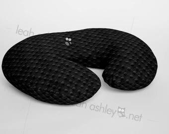 Boppy® Cover, Nursing Pillow Cover - Black MINKY Dot - BC1