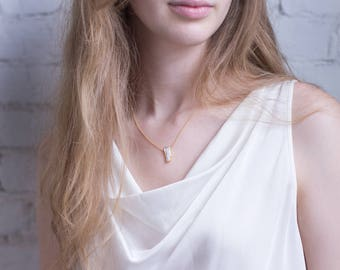 Natural Pearl Necklace, 14k Gold Filled Bridal Necklace, Bridesmaid Gift, Dainty Freshwater Pearl Necklace, Elegant Necklace, Pearl Jewelry