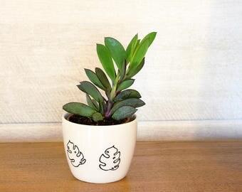 Monstera small cup - Philodendron dip bowl - Monstera deliciosa Planter