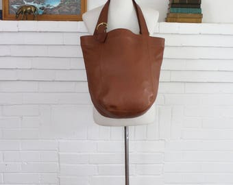 Vintage Coach Duffle Bag // Coach Soho Tote Shopper in British Tan XXL //  Bucket Purse 4082