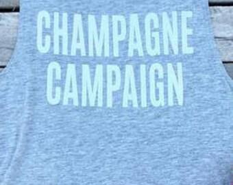 Champagne campaign - Bachelorette party tank -Bridesmaid Shirts - Bridal Party Tank Top - Bride Tank - bride tank