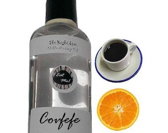 The Right Spot™ Edible Massage Oil - Covfefe Orange Coffee Natural Vegan, water based, sensual warming Romantic gift w/ Aloe