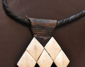 Tuareg Tribe Khomeissa or Khomissar on Leather incl. Leather Necklace
