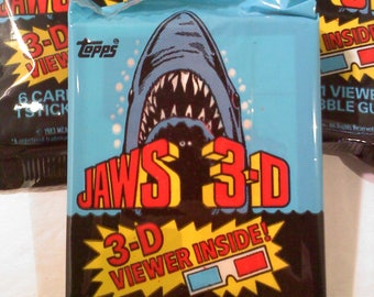Jaws 3-D Trading Cards