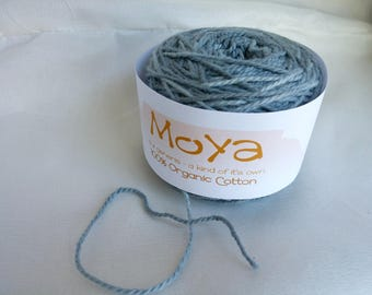 Moya Charcoal Gray Hand Dyed, Organic Cotton, DK Weight Yarn, 147 Yards, Lot 4 Y019