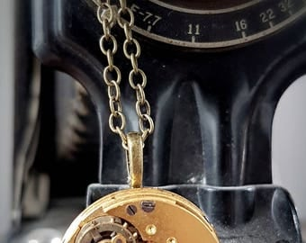 Molly Stark Vintage Pocket watch Pendant - circa 1903 - Steampunk Timeless Relic