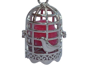 YOur perSOnal STYlish Essential oil necklace diffuser Steampunk Bird Cage  d1 0