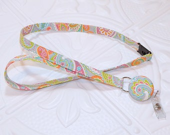 Retractable Badge Reel Breakaway Lanyard - Fabric Retractable Reel Lanyard - Fabric Id Badge Holder