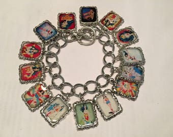 Wonder Woman Altered Art Bracelet