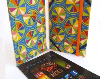 Tablet Case Made from Vintage Trixie Belden Book, with Pinwheels Inside, Fits Kindle Fire, Paperwhite, Nexus 7, Galaxy Tab, Nook