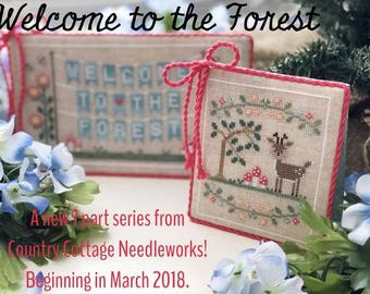 Join the Auto-Ship Club! Welcome To The Forest 2018 Stitch-A-Long SaL counted cross stitch patterns by Country Cottage Needleworks