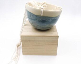 Indoor Planter. Blue Hanging Planter. Gifts for Her. Small Ceramic Planter. Gardener Gift. Garden Supplies
