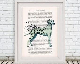 Dalmatian Print, Original dalmatian Artwork, dalmatian lover, dalmatian art, dalmatian painting, dalmatian in the wind, coco de paris