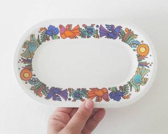Vintage Villeroy and Boch Ceramic Oval Serving Platter Dish Acapulco Design